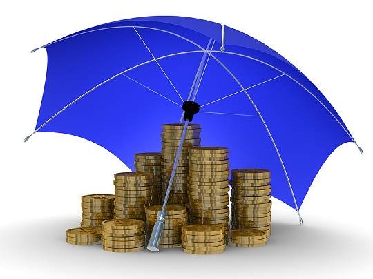 umbrella protecting money
