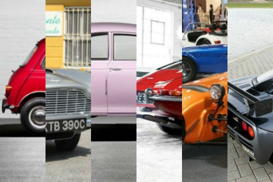 A selection of 6 of the best british cars