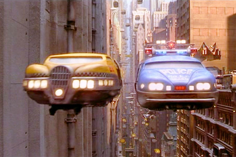 Flying cars from The Fifth Element
