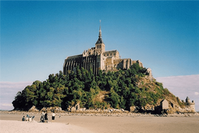 French beach and castle