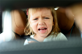 Child crying in the car
