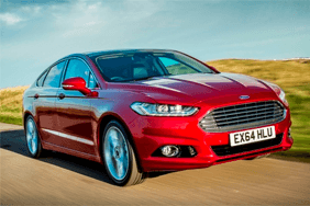 Image of a red Ford Mondeo