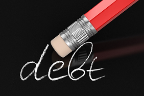 Rubber erasing debt