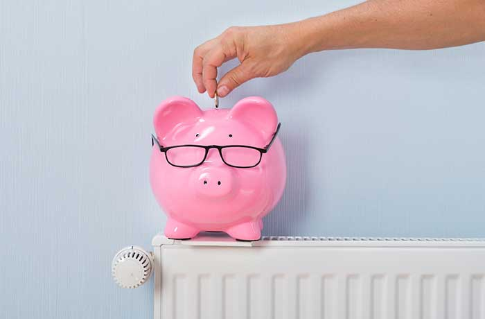 piggy bank on a radiator
