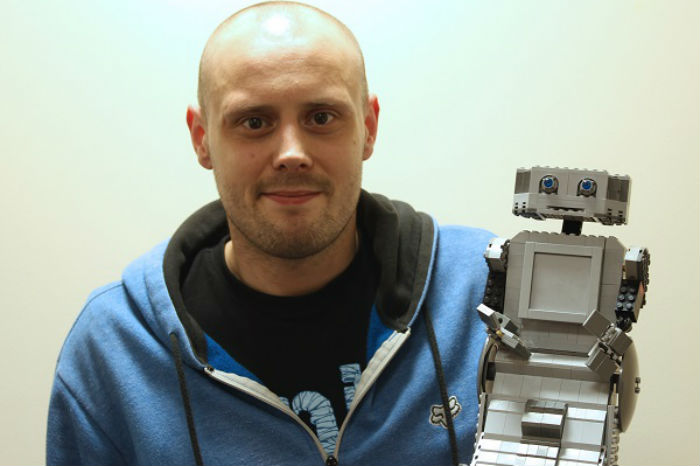 Chris Williams with his own Brian the Robot