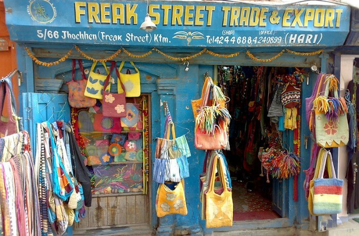 A shop from the original hippy trail