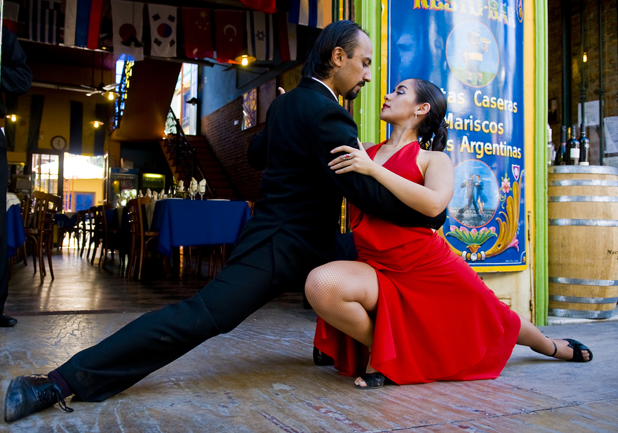 Couple dancing the tango
