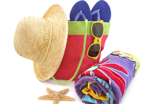Holiday beach hat towel