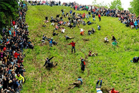 Cheese-rolling carnage in Gloucester