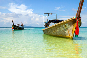 Two Thai fishing boats