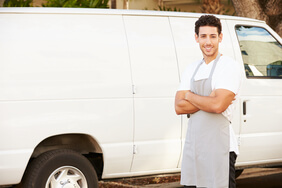 Man with white van
