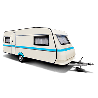 Touring caravan protected by insurance