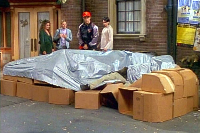 Joey's cardboard Porsche in Friends